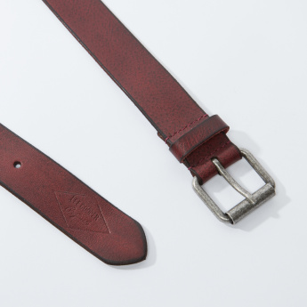 Lee Cooper Textured Belt with Pin Buckle Closure