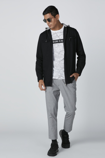 Lee Cooper Long Sleeves Jacket with Hood and Zip Closure
