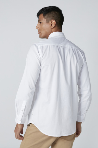 Lee Cooper Pocket Detail Shirt with Long Sleeves and Complete Placket