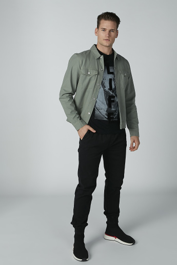 Lee Cooper Denim Jacket with Long Sleeves and Flap Pockets
