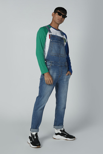 Full Length Dungarees with Pocket Detail