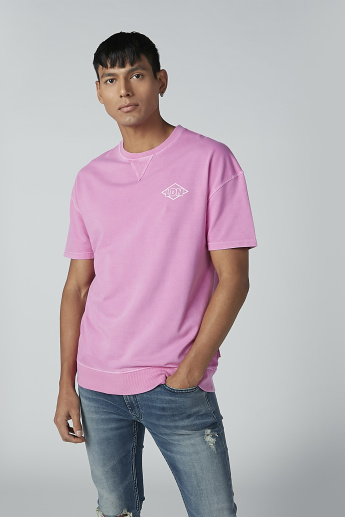 Lee Cooper Printed T-shirt with Round Neck and Short Sleeves