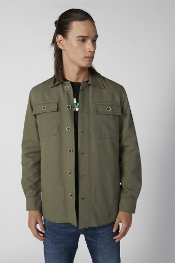 Sustainability Lee Cooper Printed Jacket with Long Sleeves
