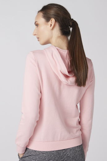 Bossini Embroidered Sweatshirt with Long Sleeves and Hood