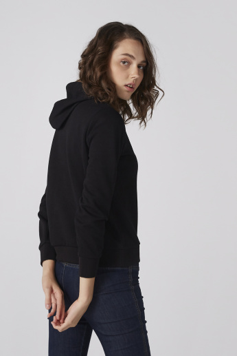 Bossini Printed Sweatshirt with Long Sleeves and Hood