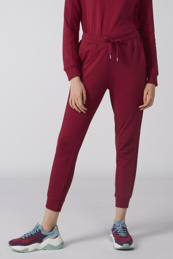 Bossini Full Length Jog Pants with Tape Detail and Drawstring