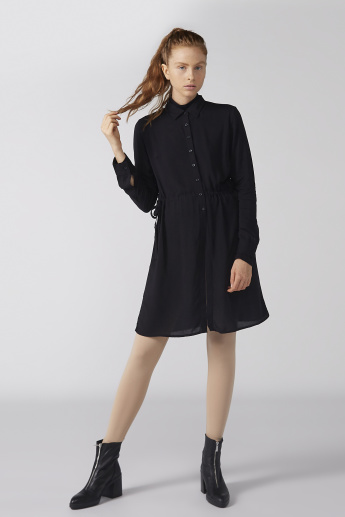Bossini Shirt Dress with Long Sleeves and Complete Placket