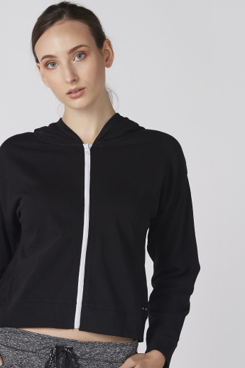 Bossini Long Sleeves Jacket with Zip Closure and Hood