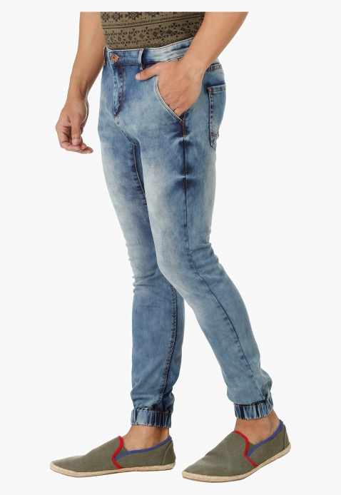Full Length Denim Jog Pants