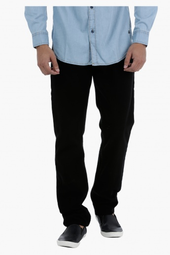 Cotton Medium Rise Jeans in Straight Fit