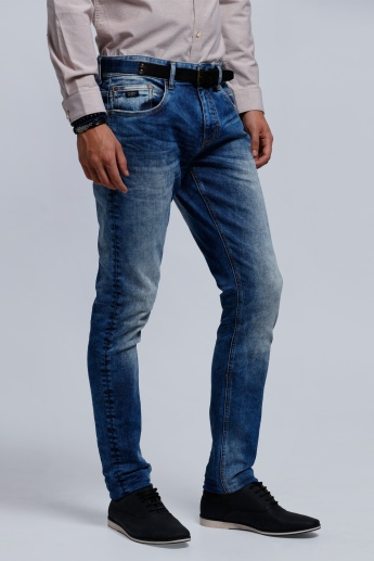 Eco Friendly Jeans with Button Closure in Skinny Fit