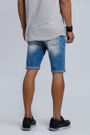 Eco Friendly Knee Length Shorts with Button Closure