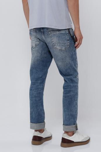 Sustainability Full Length Faded Jeans