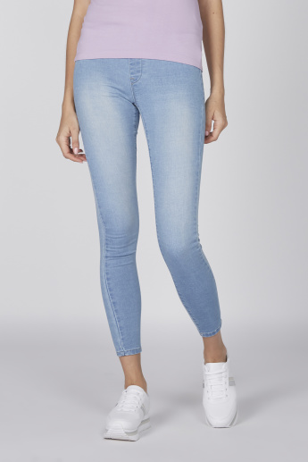 Skinny Fit Jeans with Drawstring