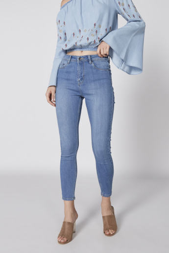 Mid Rise Skinny Perfect Length Jeans