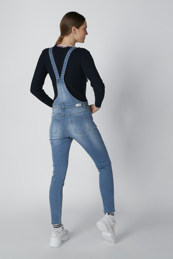Sustainability Mid-Waist Dungarees with Pocket Detail