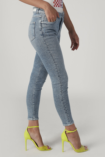 Sustainability Skinny Fit Full Length Mid Waist Jeans with Pockets