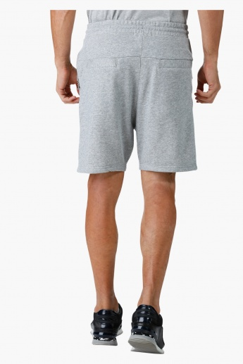 Drawstring Shorts with Zippered Pockets in Regular Fit