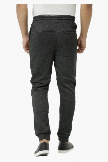 Textured Jog Pants with Zip Pockets and Cuffs