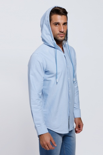 Long Sleeves Shirt with Hood | Shirts | Tops | Regular | Men ...