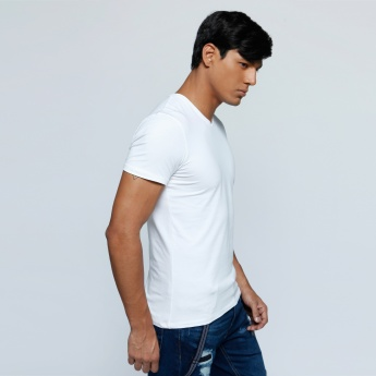 V-Neck T-Shirt with Short Sleeves