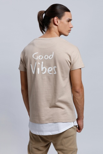 Eco Friendly Printed Short Sleeves T-Shirt with Round Neck