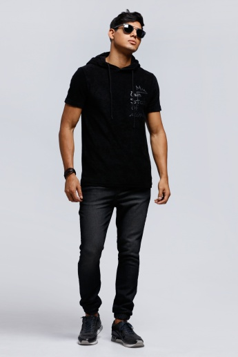 Hooded T-Shirt with Short Sleeves