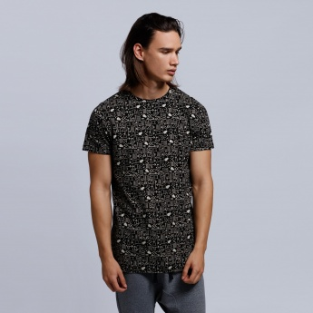 Eco Friendly Printed Short Sleeves T-Shirt with Crew Neck