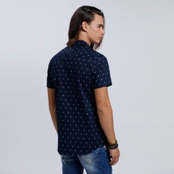 Eco Friendly Printed Shirt with Short Sleeves
