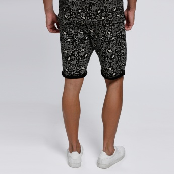 Printed Shorts with Pocket Detail