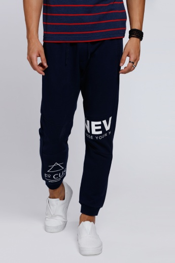 Printed Full Length Joggers with Elasticised Waistband