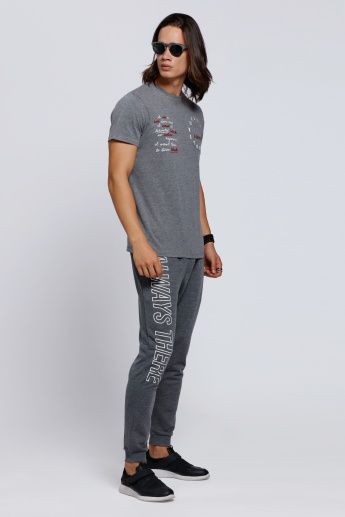 Printed Jog Pants with Snug Fitted Cuffs