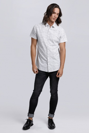 Printed Shirt with Short Sleeves