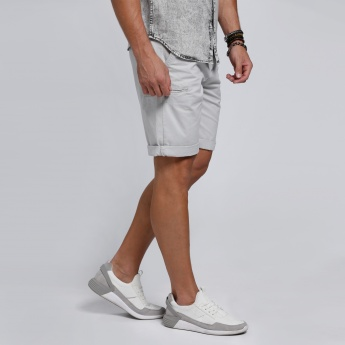 Shorts with Pocket Detail in Regular Fit