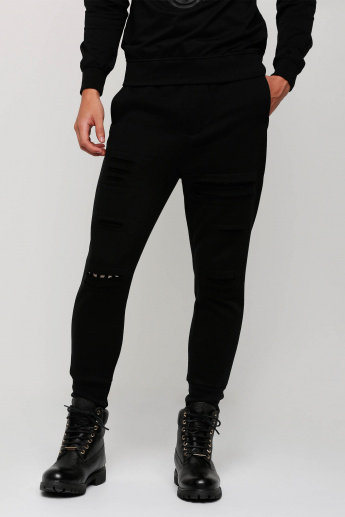 Studded Full Length Pants with Pocket Detail