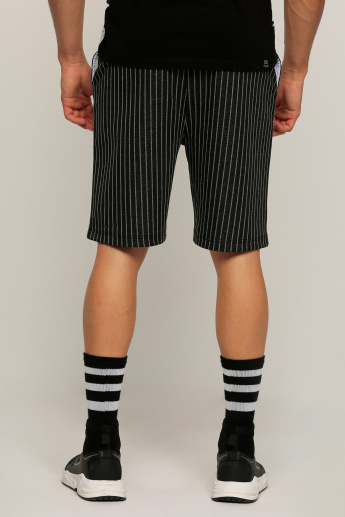 Striped Shorts with Pocket Detail