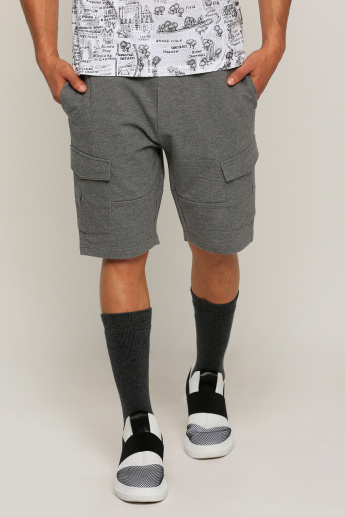 Knitted Shorts with Pocket Detail