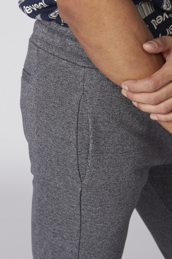Full Length Track Pants with Elasticised Waistband and Tie-Up Detail