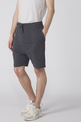 Textured Shorts with Elasticised Waistband and Pocket Detail