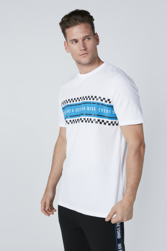 Printed T-Shirt with Crew Neck