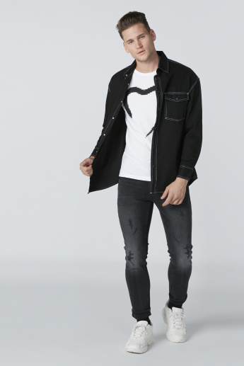Collared Shirt in Regular Fit with Long Sleeves