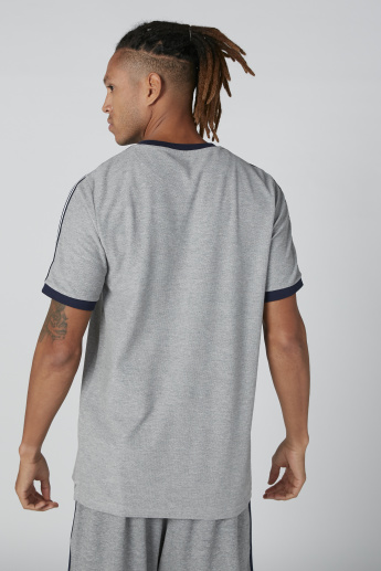 Printed T-Shirt in Relaxed Fit with Tape Detail