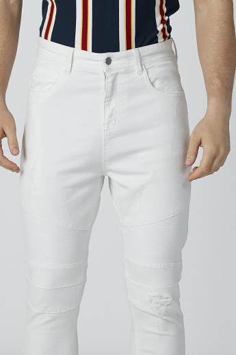 Full Length Jeans with Pocket and Zip Detail