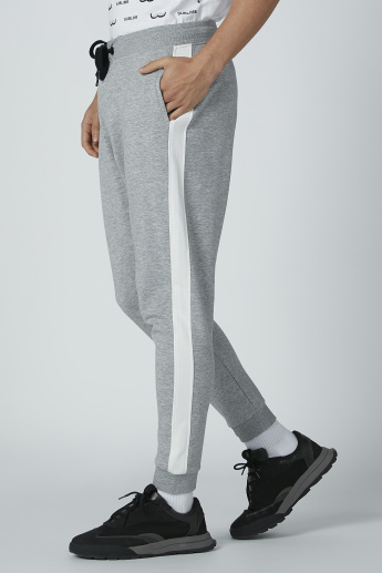 Tape Detail Jog Pants with Drawstring and Pockets