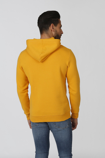 Sustainability Printed Sweatshirt with Kangaroo Pockets and Hood