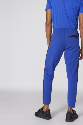 Full Length Pants with Elasticised Waistband and Tape Detail