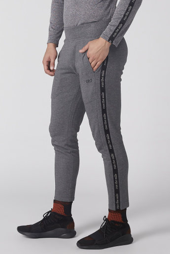 Tape and Pocket Detail Pants with Elasticised Waistband