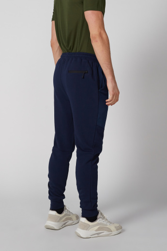 Pocket Detail Mid-Rise Jog Pants with Drawstring