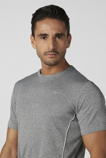 Plain T-shirt with Crew Neck and Short Sleeves