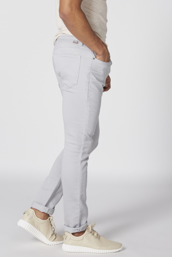 Full Length Pants with Elasticised Waistband and Pocket Detail